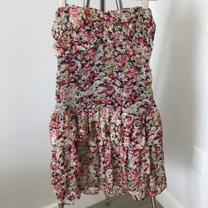 Express Ruched Tube Top Dress